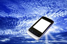 Free Modern Cell Phone With White Screen Royalty Free Stock Photo - 17636035