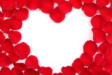 Free Rose Petals Forming Heart-shaped Frame Stock Photo - 17636180