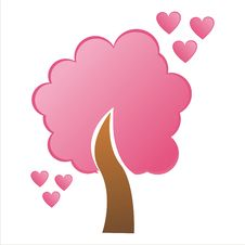 Free St. Valentine S Day Tree With Hearts Stock Photo - 17636260