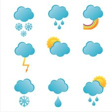 Free Weather Icons Royalty Free Stock Photo - 17636265