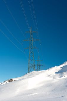 Free Power Poles Royalty Free Stock Photos - 17636778