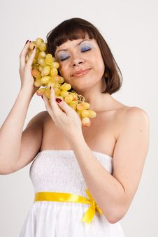 Free Girl With Grapes Stock Image - 17636811