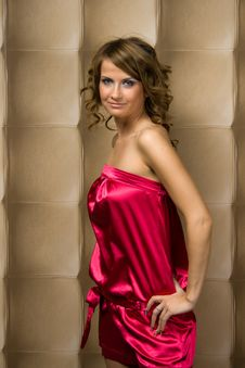 Free Sexy Girl In Pink Dress Royalty Free Stock Image - 17637056