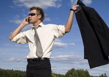 Businessman Talking On Mobile Phone Stock Image