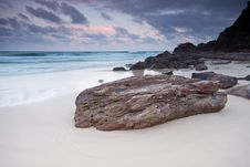 The Beach At Twilight Royalty Free Stock Photography
