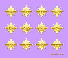 Zodiac  Icons. Royalty Free Stock Photography