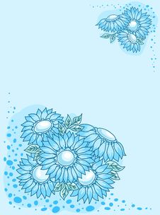 Free The Blue Flowers Card. Stock Photo - 17637680
