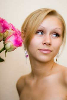 Free Girl And Roses Stock Photos - 17637943