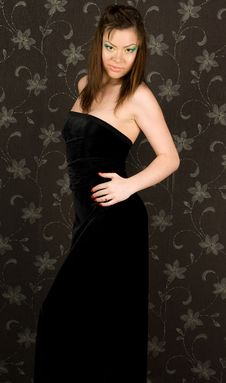 Free Beautiful Girl Is In An Evening Dress Royalty Free Stock Image - 17638246