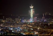 Free Fireworks Of Taipei City Stock Photography - 17638842