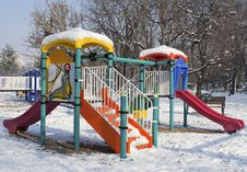 Free Playing Place In The Winter Stock Photos - 17638873