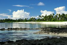 The Alabaster Beach In South Pacific Island Royalty Free Stock Photo