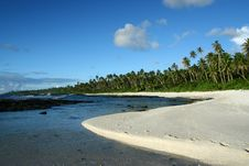 The Alabaster Beach In South Pacific Stock Photography
