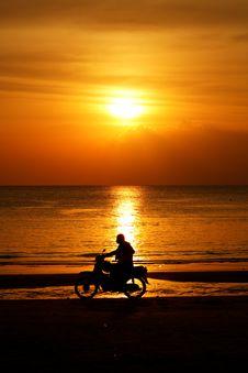 Free Motorcycling At Beach On Langkawi Island, Malaysia Royalty Free Stock Photography - 17639377