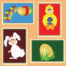 Easter Stamps Royalty Free Stock Image