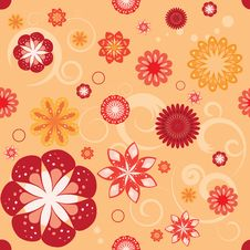 Free Floral Seamless Pattern Royalty Free Stock Photo - 17639775