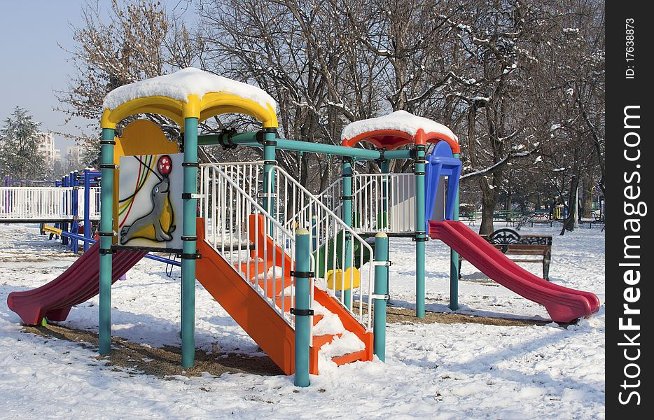 Playing place in the winter