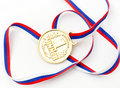 Free Golden Medal Isolated On White Royalty Free Stock Images - 17643769