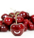 Free Fresh Red Cherry Isolated On White Royalty Free Stock Photo - 17644635