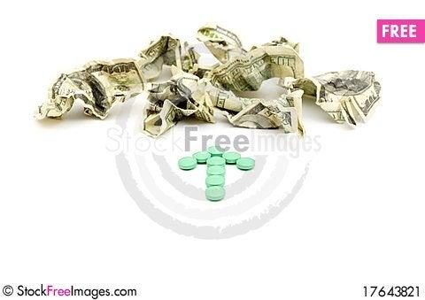 Crumpled american money Stock Photo