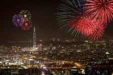 Free Fireworks Of Taipei City Royalty Free Stock Photos - 17640428