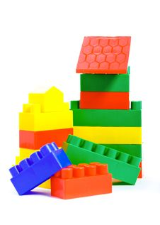 Free Colorful Plastic Toys And Bricks Royalty Free Stock Photos - 17640978