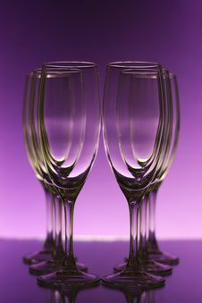 Free Empty Champagne Glasses Royalty Free Stock Image - 17641176