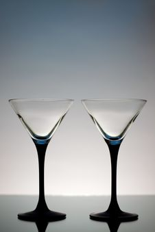 Free Two Martini Glasses Stock Image - 17641201
