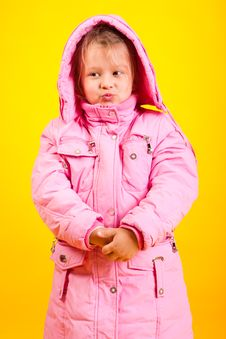 Free Little Girl In An Overcoat Stock Image - 17641651