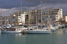 Free Yachts Anchored At The Marina Stock Images - 17641654