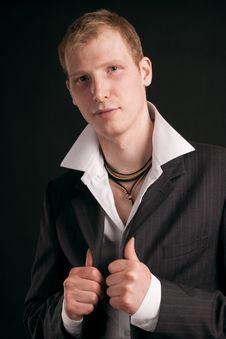 Free Adult Guy On Black Backout Stock Photo - 17642790