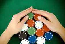 Free Gambling Chips Stock Photos - 17642843