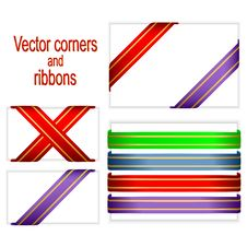 Free Corners And Ribbons. Stock Photos - 17643053
