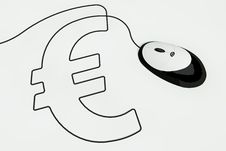 Free Eurosign Drawn With Mouse Wire Stock Image - 17643591