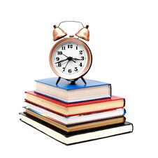 Free Back To School Concept With Books And Clock Royalty Free Stock Images - 17643789