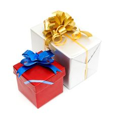 Free Holiday Gift Boxes Royalty Free Stock Photography - 17643877