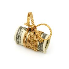 Free Stack Of $100 Dollar Bills Tied With A Ribbon Royalty Free Stock Photo - 17643925