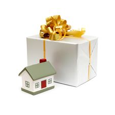House As A Gift For You Royalty Free Stock Images