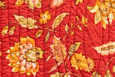 Quilted Bedspread Stock Photography