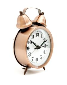 Free Bronze Vintage Alarm Clock Stock Photography - 17644192