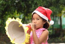 Free Girl At Christmas Stock Image - 17644291
