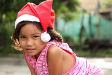 Free Girl In Santa Hat Royalty Free Stock Images - 17644299