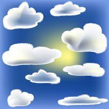 Sun And Cloud Royalty Free Stock Photos
