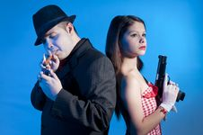 Free Bonnie And Clyde Royalty Free Stock Photography - 17644507