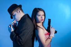 Free Bonnie And Clyde Royalty Free Stock Photo - 17644605
