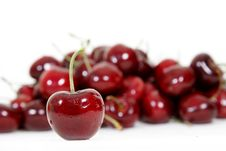 Free Fresh Red Cherry Isolated On White Stock Photo - 17644620