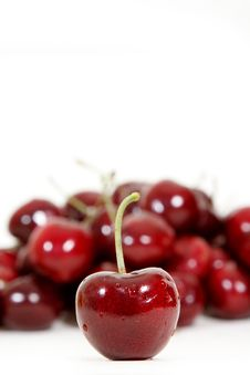 Free Fresh Red Cherry Isolated On White Royalty Free Stock Photos - 17644628