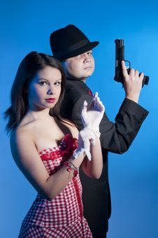 Free Bonnie And Clyde Stock Photo - 17644630