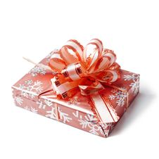 Free Red Gift Box With Glossy Ribbon Stock Photo - 17645180