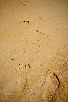 Free Footprints In The Sand Stock Photos - 17645263